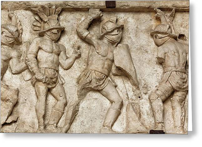 Rome, Italy. Bas Relief Greeting Card