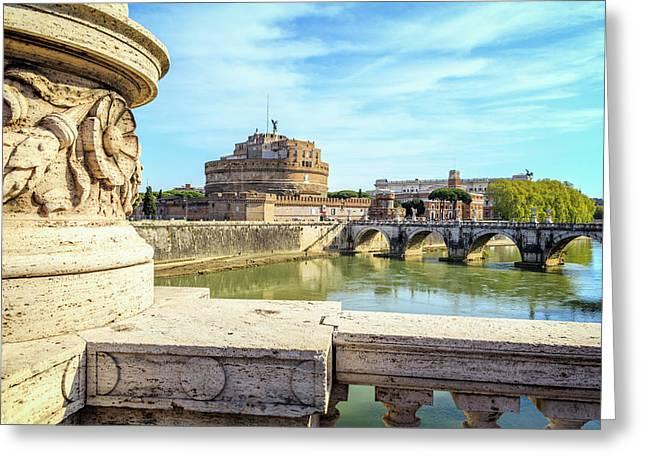 Rome, Italy. Castel Santangelo Greeting Card