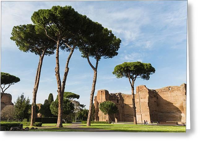 Rome, Italy. Terme Di Caracalla, Or Greeting Card