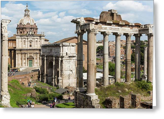 Rome, Italy. The Roman Forum. The Arch Greeting Card