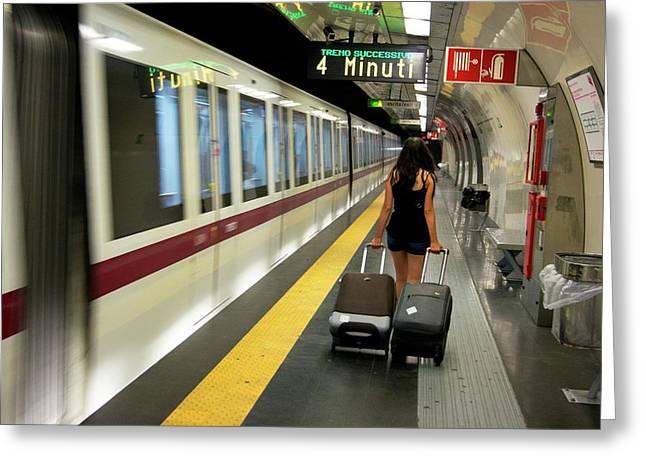 Rome Metro. Greeting Card