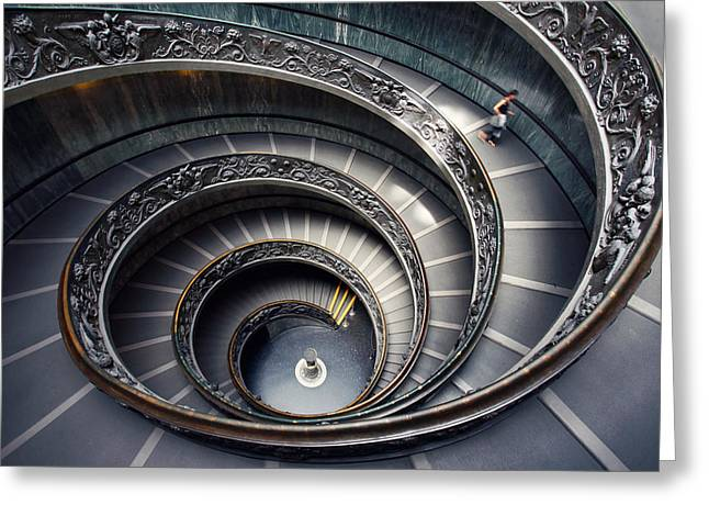 Rome Vatican Museum Greeting Card by Nina Papiorek