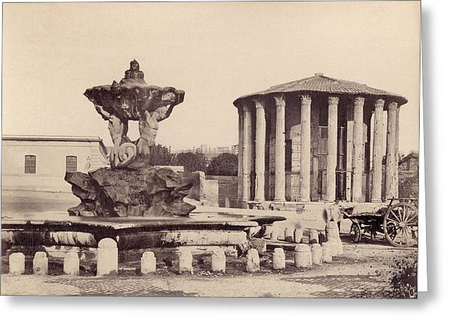 Rome Vestal Temple Greeting Card by Granger