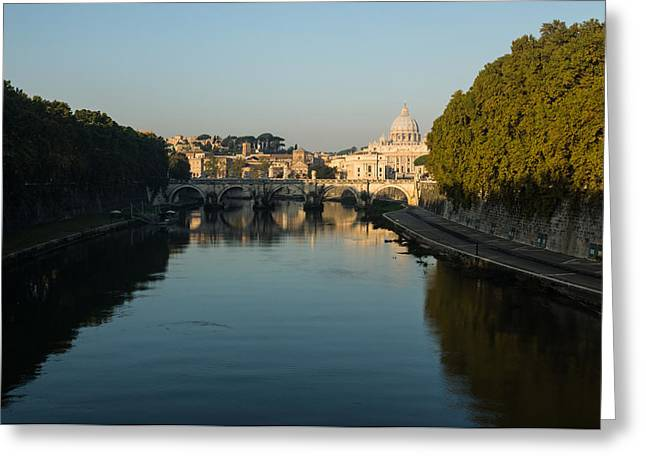Greeting Card featuring the photograph Rome Waking Up by Georgia Mizuleva
