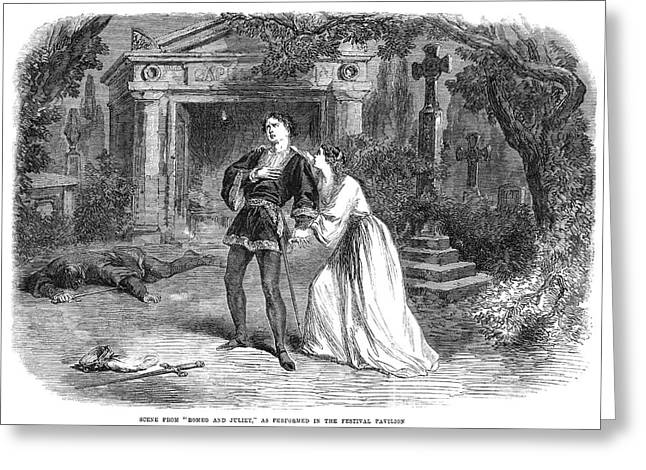 Romeo And Juliet, 1864 Greeting Card by Granger