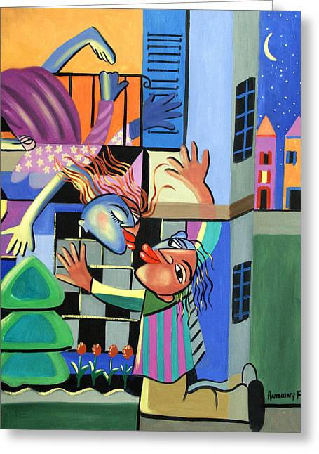 Romeo And Juliet Greeting Card by Anthony Falbo