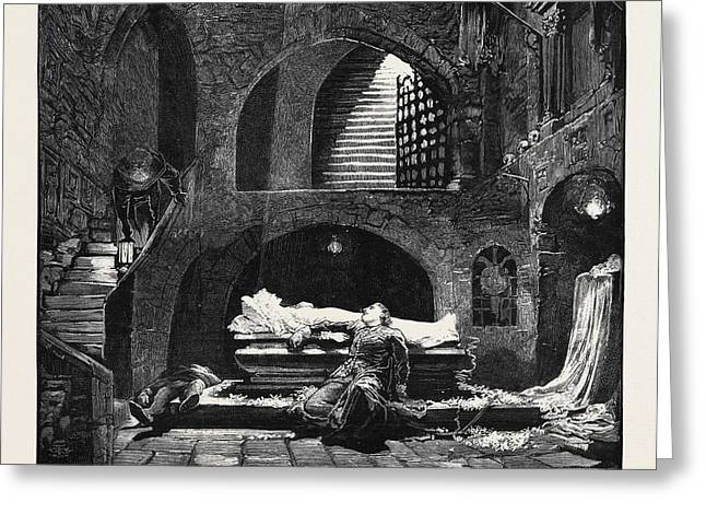 Romeo And Juliet At The Lyceum Theatre Greeting Card by English School