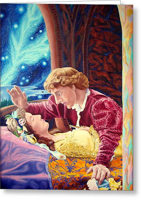 Greeting Card featuring the painting Romeo And Juliet  by Matt Konar