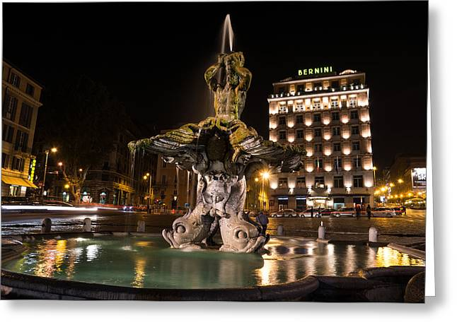 Rome's Fabulous Fountains - Bernini's Fontana Del Tritone Greeting Card