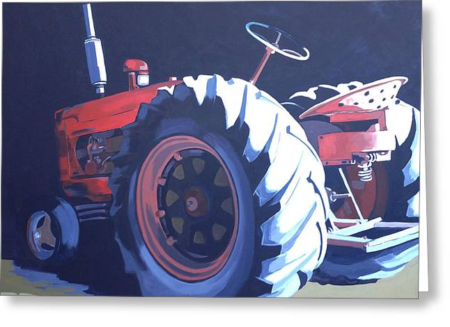 Vintage Tractor 2 Greeting Card by Jeffrey Bess