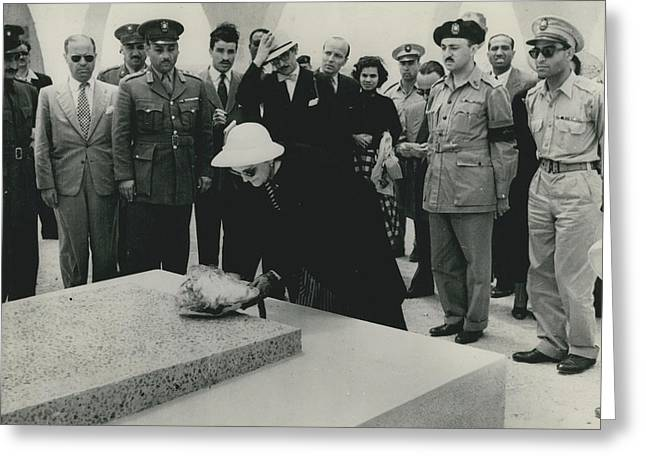 Rommel�s Widow Visits El Alamein Cemetery. Greeting Card by Retro Images Archive