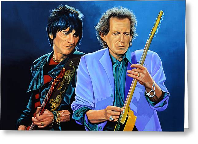 Ron Wood And Keith Richards Greeting Card by Paul Meijering