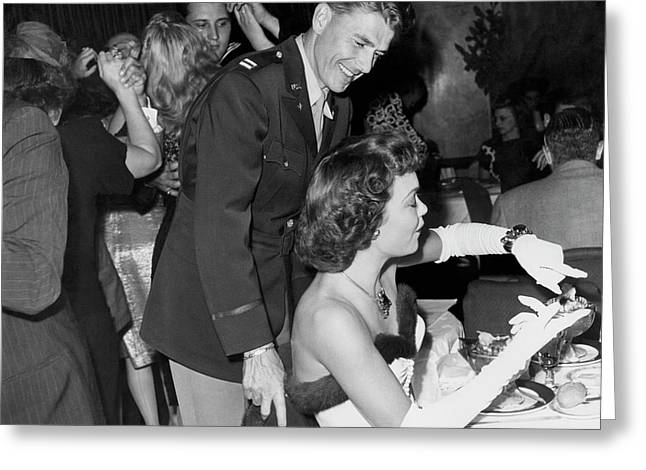 Ronald Reagan And Jane Wyman Greeting Card