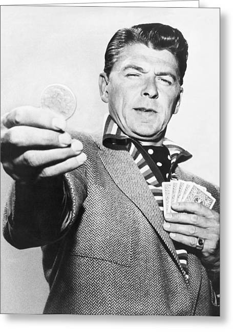 Ronald Reagan Film Still Greeting Card by Underwood Archives