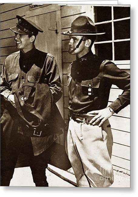 Ronald Reagan In Sergeant Murphy Warner Brothers Studio Monterey 1937 Greeting Card