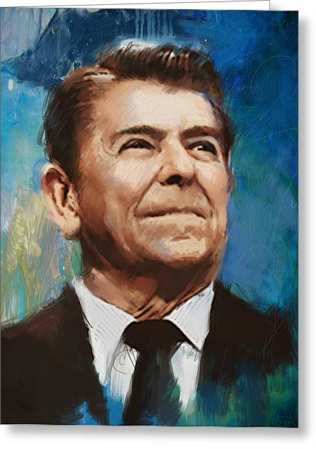 Ronald Reagan Portrait 6 Greeting Card