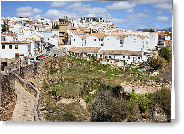 Ronda Old City In Spain Greeting Card by Artur Bogacki