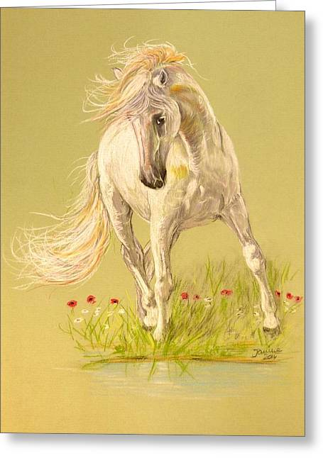 Greeting Card featuring the pastel Rondeno by Janina  Suuronen
