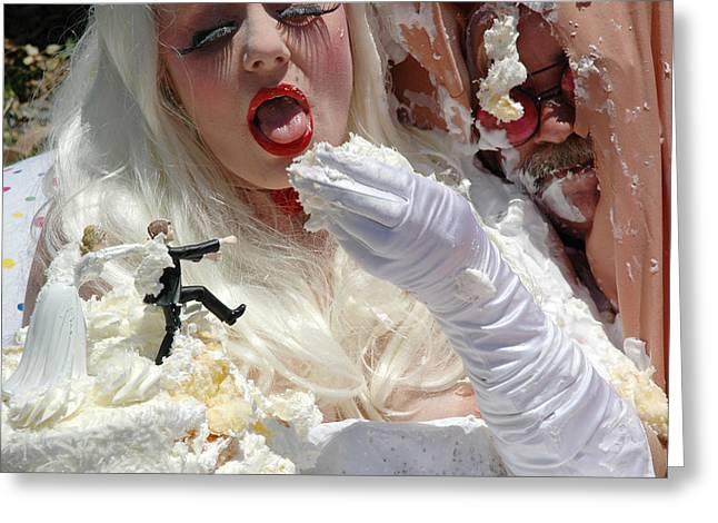 Roobie Breastnut In The Wedding 85 Greeting Card by Liezel Rubin