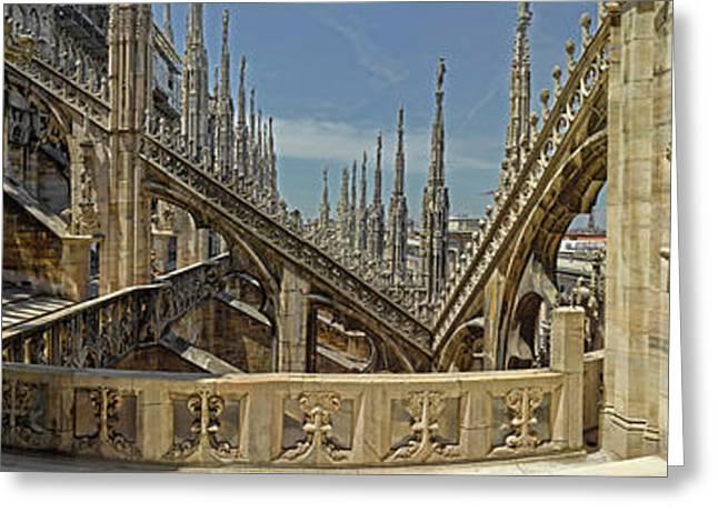 Roof Detail Of The Duomo Di Milano Greeting Card