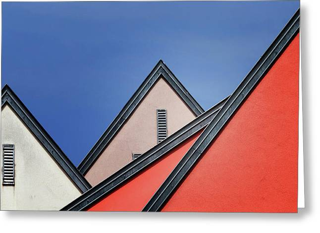 Roof Lines Greeting Card