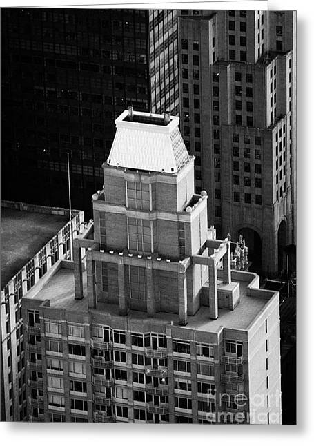 Roof Of The Belvedere Building New York City Greeting Card by Joe Fox