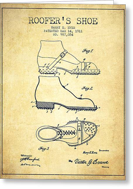 Roofers Shoe Patent From 1911 - Vintage Greeting Card by Aged Pixel