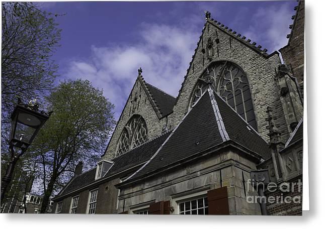 Rooflines Oude Kerk Amsterdam Greeting Card by Teresa Mucha