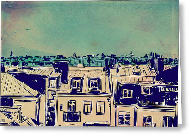 Roofs Greeting Card by Giuseppe Cristiano