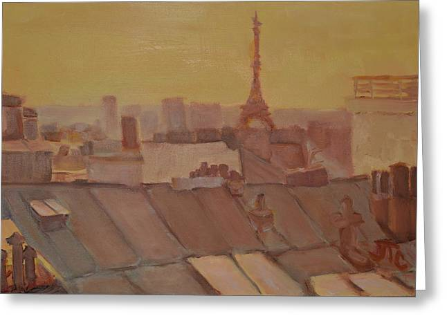 Roofs Of Paris Greeting Card