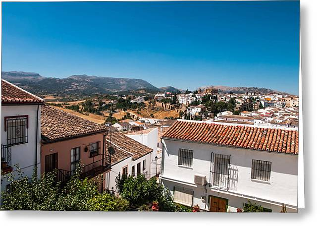 Roofs Of Ronda. Spain Greeting Card