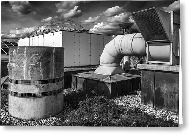 Roofscape Greeting Card by Arkady Kunysz