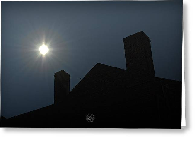 Rooftop Silhouette Greeting Card by Brian Archer