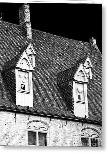 Rooftop View In Bruges Greeting Card by John Rizzuto