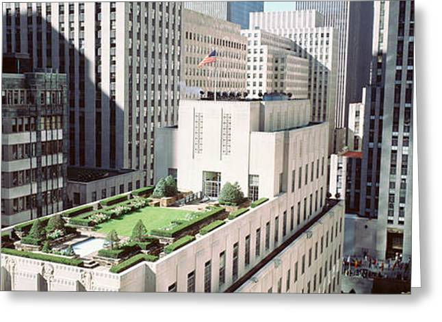 Rooftop View Of Rockefeller Center Greeting Card