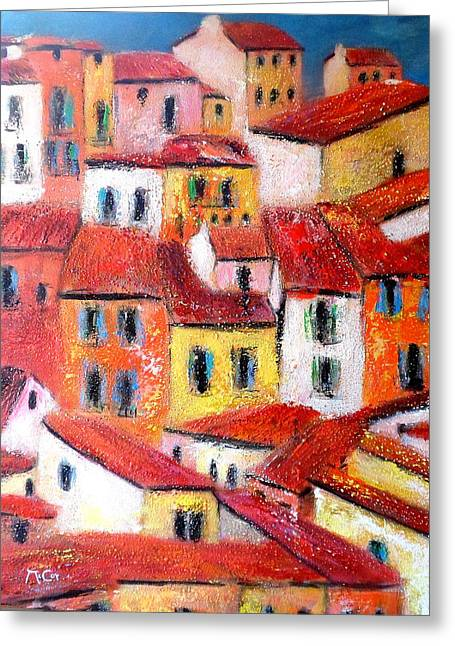Rooftops Collioure Greeting Card