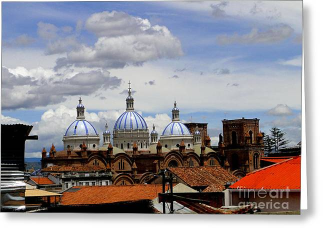 Rooftops Of Cuenca Greeting Card by Al Bourassa