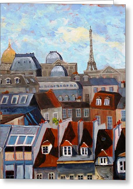 Rooftops Of Paris Greeting Card