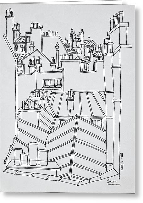 Rooftops Of Paris, France Greeting Card