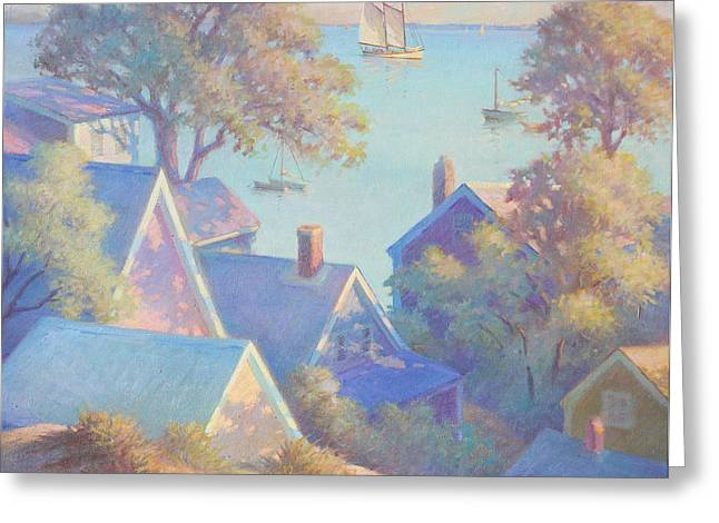 Rooftops Of Provincetown Harbor Greeting Card by Ernest Principato