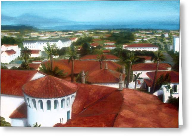 Rooftops Of Santa Barbara Greeting Card