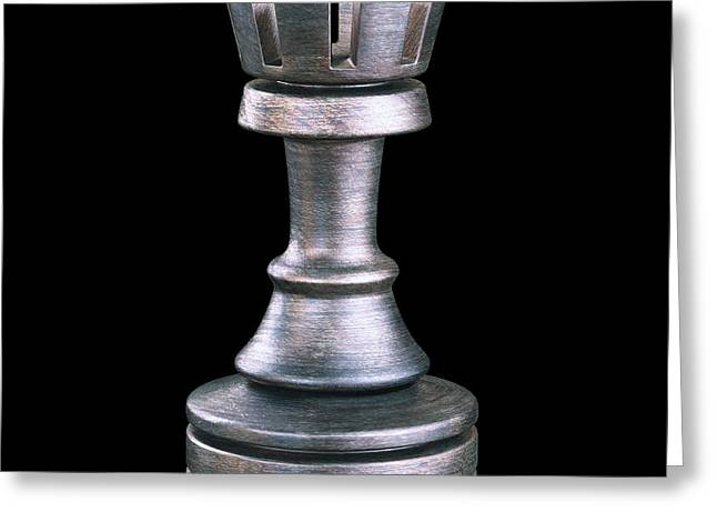 Rook Chess Piece Greeting Card by Ktsdesign