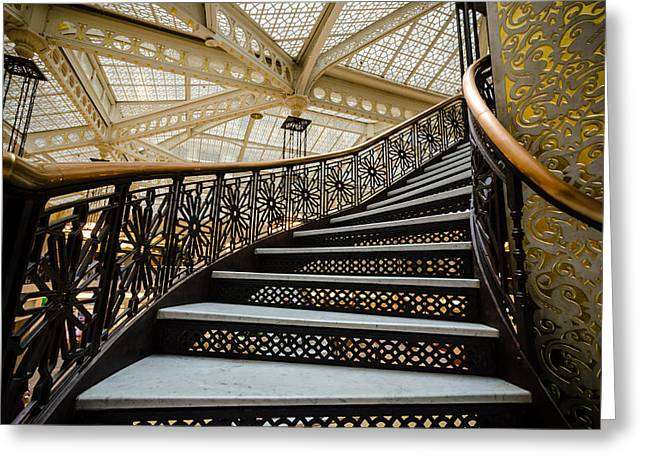 Rookery Building Atrium Staircase Greeting Card