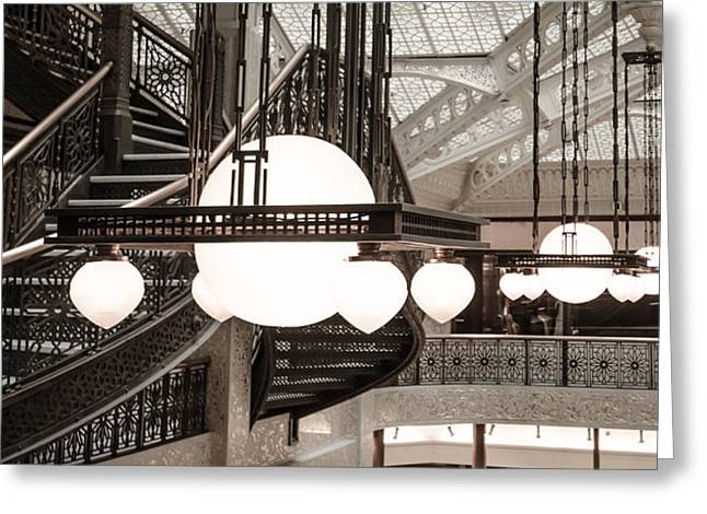 Rookery Building Lights Greeting Card