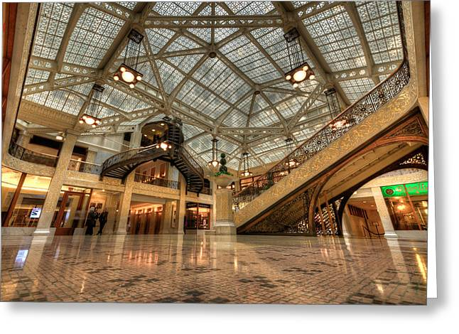 Rookery Building Main Lobby And Atrium Greeting Card