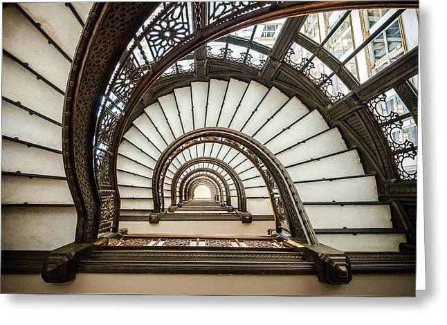 Rookery Building Oriel Staircase Greeting Card