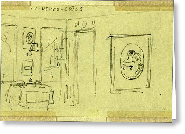 Room Interior In Abraham Lincolns Home, Springfield Greeting Card by Quint Lox