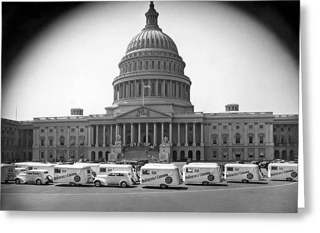 Roosevelt Caravan Trailers Greeting Card
