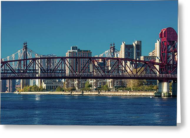 Roosevelt Island Bridge, Ny, Ny Greeting Card