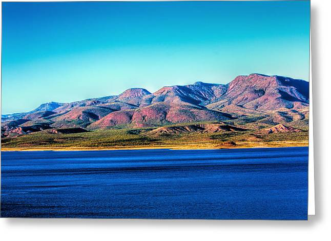 Roosevelt Lake Greeting Card by Fred Larson